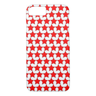 HEARTS AND STARS RED/WHITE iPHONE 7/8 CASE