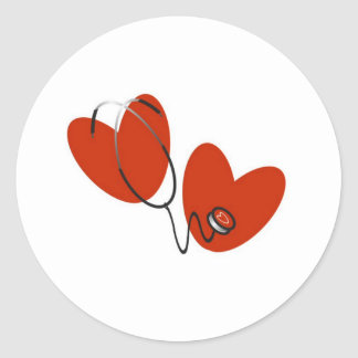 Hearts and Stethoscope Stickers