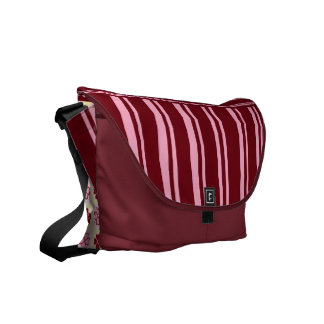 HEARTS AND STRIPES COURIER BAG