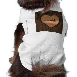 Hearts and Stripes Customizable Dog Shirt