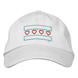 Hearts and Stripes Forever Tech Embroidered Baseball Caps