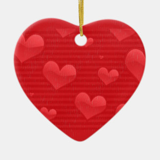 Hearts and Stripes in Distress Ceramic Heart Decoration