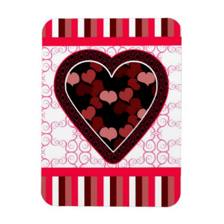 Hearts and Stripes Magnet