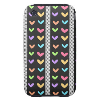 Hearts and Stripes Phone Case iPhone 3 Tough Cover