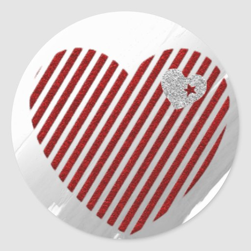 Hearts and Stripes Sticker