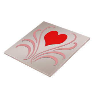 Hearts and Vines Tile/Trivet