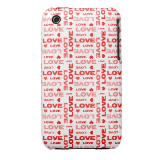 Hearts and Words of Love iPhone 3 Cover