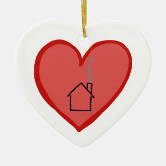 Hearts are Stronger Than Houses Christmas Ornament