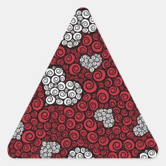 Hearts are Wild Triangle Stickers