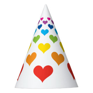 Hearts around hearts party hat