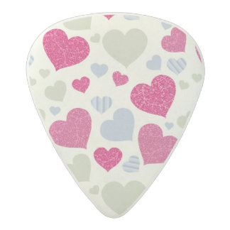 Hearts Background Acetal Guitar Pick