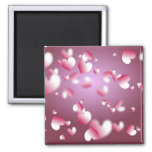 hearts background magnets