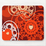 Hearts background, mousepad