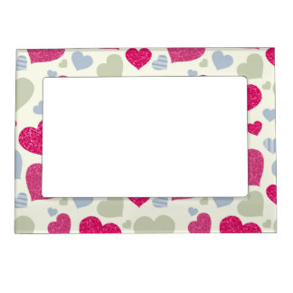 Hearts Background Picture Frame Magnet
