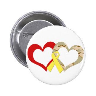 Hearts 6 Cm Round Badge