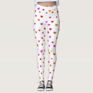 Hearts balloons on leggings