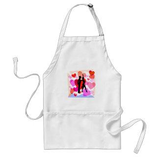 Hearts ballroom dancing apron