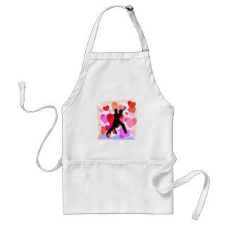 Hearts ballroom dancing standard apron