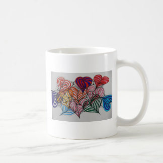 hearts basic white mug