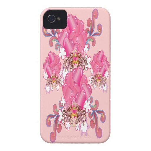 Hearts Bouquet iPhone 4 Cases