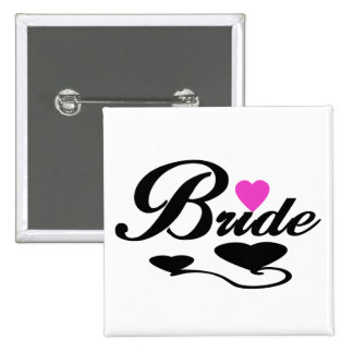 Hearts Bride T-shirts and Gifts Buttons