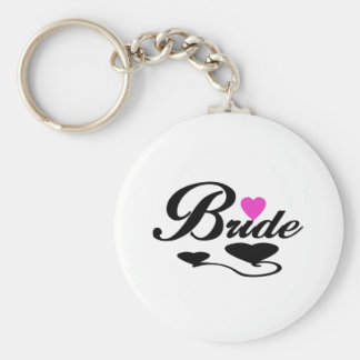 Hearts Bride T-shirts and Gifts Key Chain