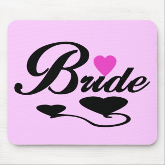 Hearts Bride T-shirts and Gifts Mouse Pad