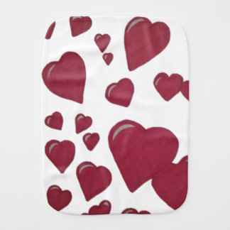 Hearts Burp Cloth