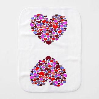 Hearts Burp Cloth