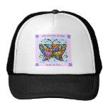 Hearts Butterfly Mesh Hat