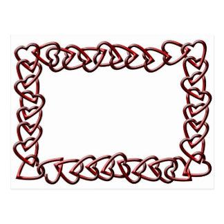 Hearts Chain Frame Postcard