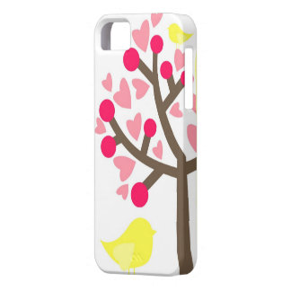 Hearts Cherry Blossom Yellow Bird iPhone 5s Case iPhone 5 Case