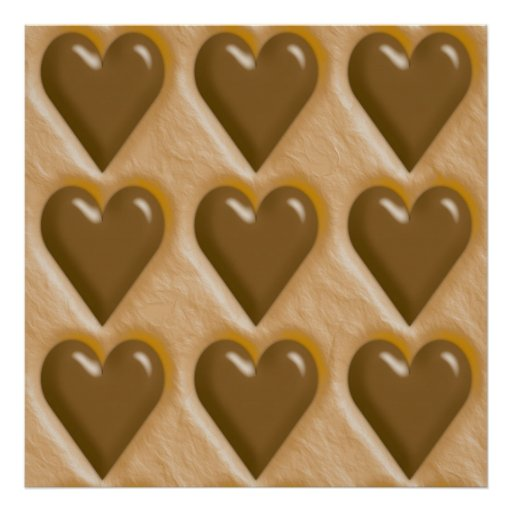Hearts - Chocolate Peanut Butter Posters