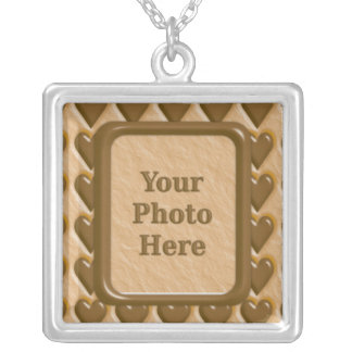 Hearts - Chocolate Peanut Butter Silver Plated Necklace