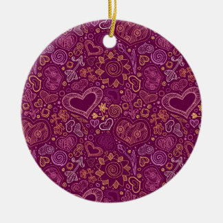 Hearts Circle Ornament