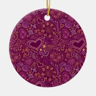 Hearts Circle Ornament