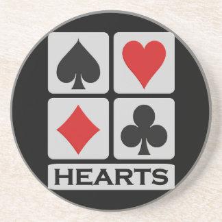 Hearts coaster