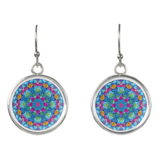 Hearts Colorful Drop Earrings