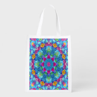 Hearts Colorful Reusable Bags Market Totes