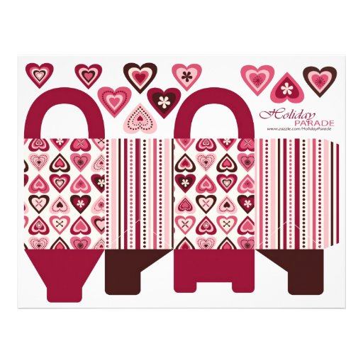 Hearts Confection Basket Box Template Personalized Flyer