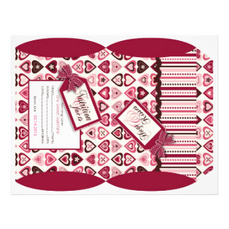 Hearts Confection Puff Box Template 21.5 Cm X 28 Cm Flyer