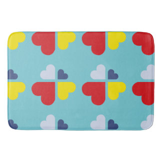 Hearts Cross Bath Mat