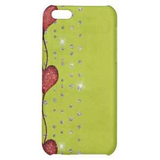 Hearts Dangling ip4 Speck Case Love Valentine iPhone 5C Covers