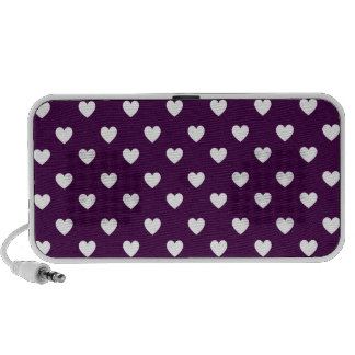 Hearts Deep Purple iPhone Speaker
