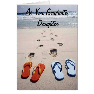 HEART'S DESIRES DAUGHTER AS U GRADUATE GREETING CARD