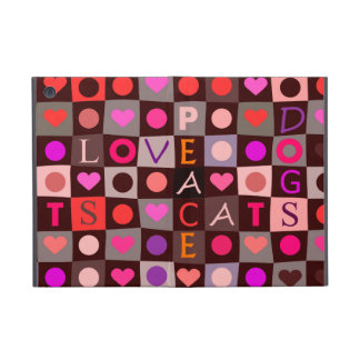 Hearts Dogs Cats Love Cover For iPad Mini