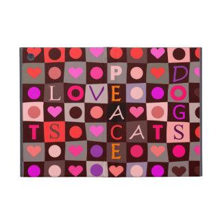 Hearts Dogs Cats Love iPad Mini Covers