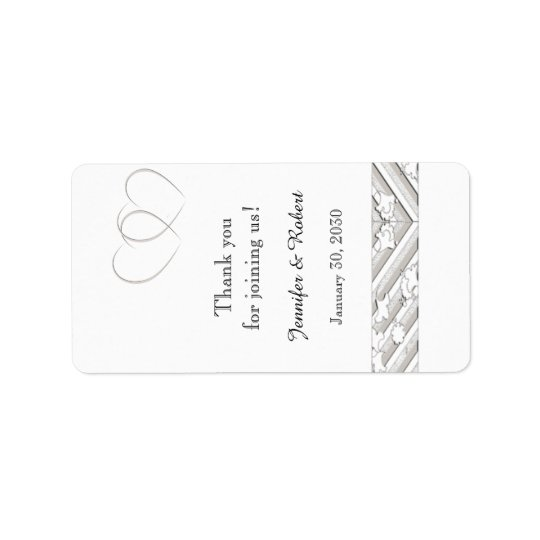 Hearts Entwined Floral Border Lip Balm Label Address Label