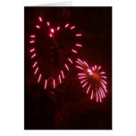 hearts fireworks greeting card