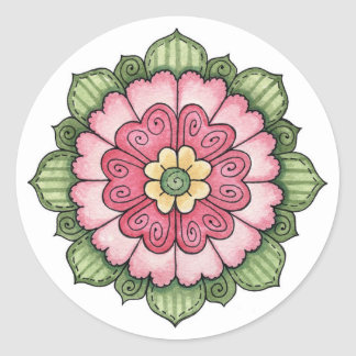 Hearts Flower - Stickers